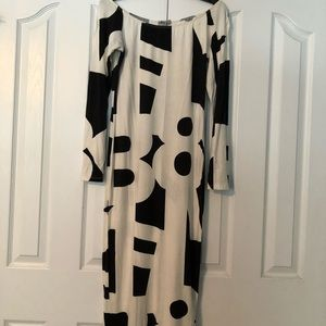 ASOS Midi black and white numbers dress